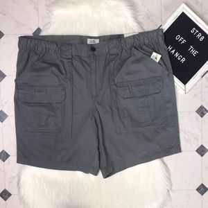 NWT croft & barrow side-elastic cargo shorts sz 48